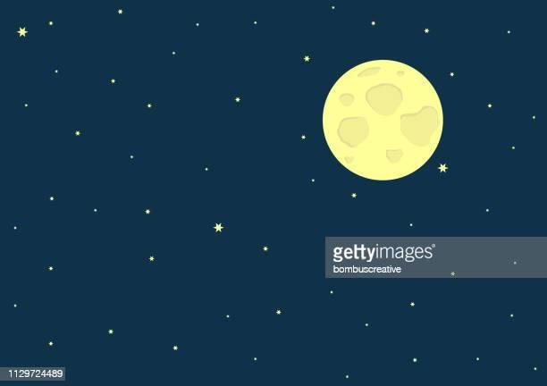 ilustraciones, imágenes clip art, dibujos animados e iconos de stock de luna llena - luna llena