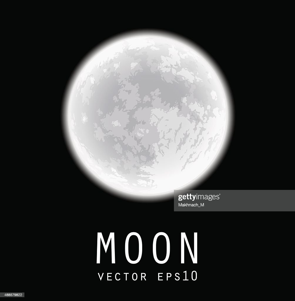 Full moon. Vector illustration.
