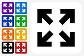 Full Screen Arrows Icon Square Button Set