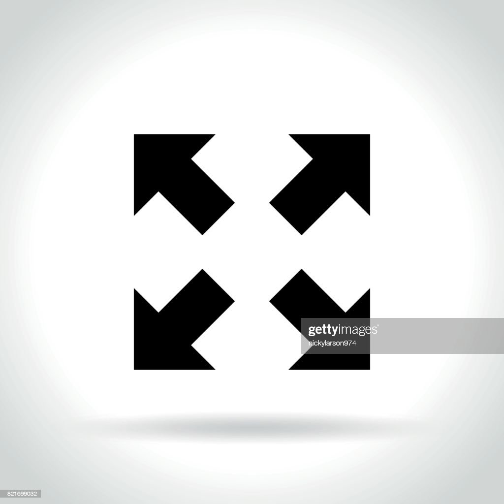 full screen icon on white background