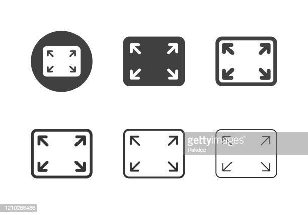 ilustrações, clipart, desenhos animados e ícones de ícones de tela cheia - série multi - largo descrição geral