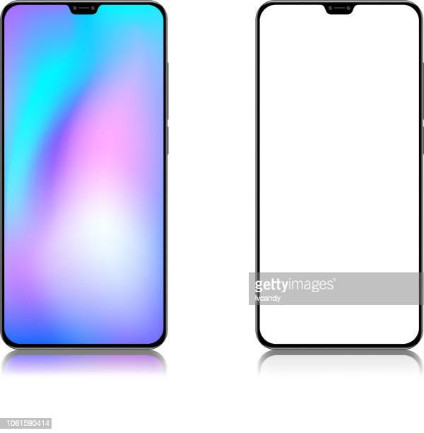 full screen mobile phone - blank stock illustrations