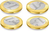 full set of one euro coins