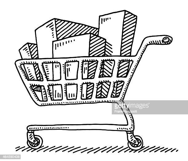 World S Best Supermarket Cart Drawing Stock Illustrations