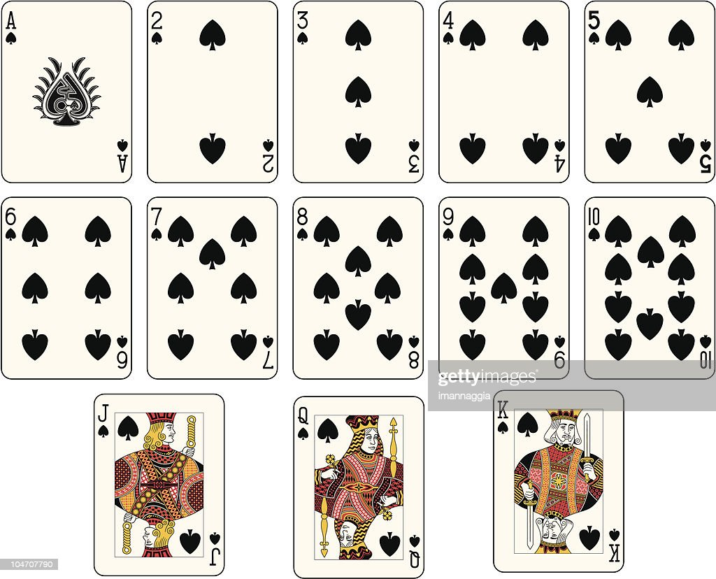 Full spade suit off a playing card deck