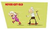 Fun and crazy senior people