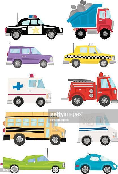 fun cars - sedan stock illustrations, clip art, cartoons, & icons