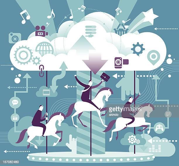 Fun & Cloud computing concept