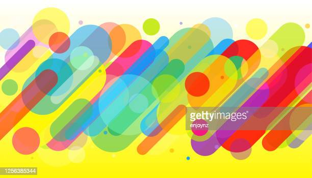 fun colorful abstract background illustration - multi colored background stock illustrations