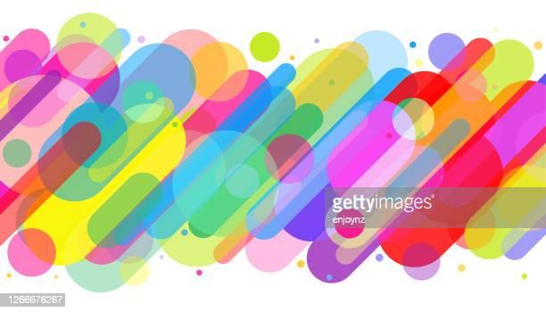 spaß bunte abstrakte hintergrund-illustration - regenbogen stock-grafiken, -clipart, -cartoons und -symbole