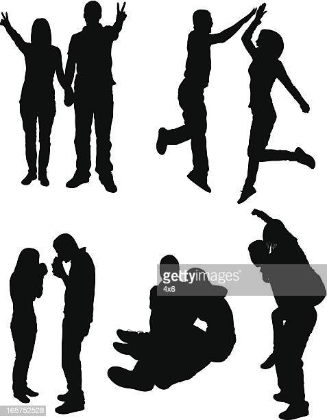 fun couples enjoying time with each other - heterosexual couple stock illustrations, clip art, cartoons, & icons