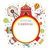 Fun Fair, Carnival, Circus, Round Frame