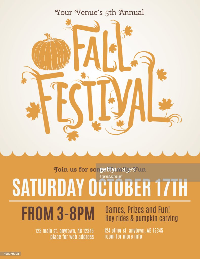 Fun Fall Festival Invitation Flyer