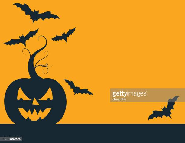 Fun Halloween Background With Jack O' Lantern
