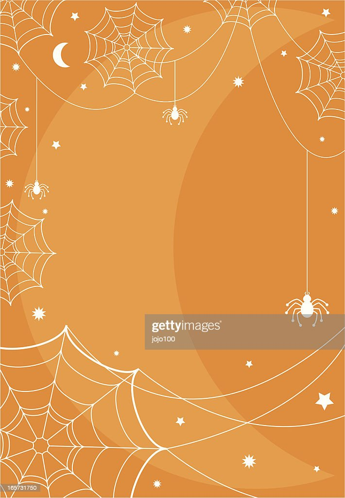 fun halloween border with half moon background vector art getty images