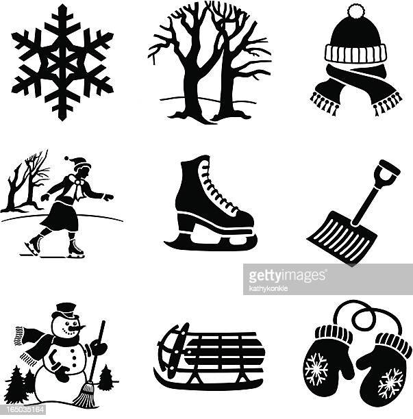 fun in the winter icons