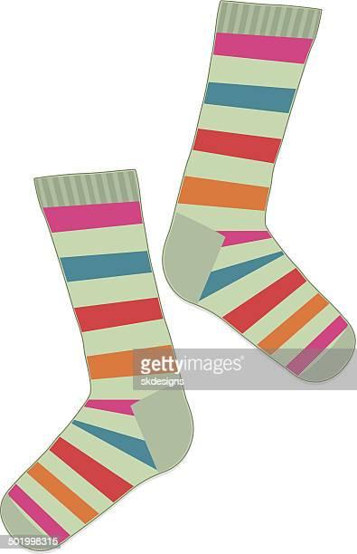 Fun, Multicolored Striped Socks