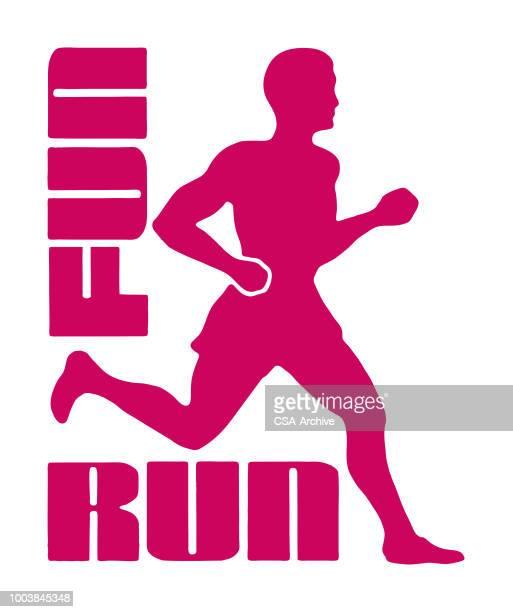 fun run - marathon stock illustrations