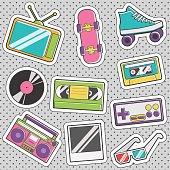 Fun trendy vintage sticker retro fashion badges