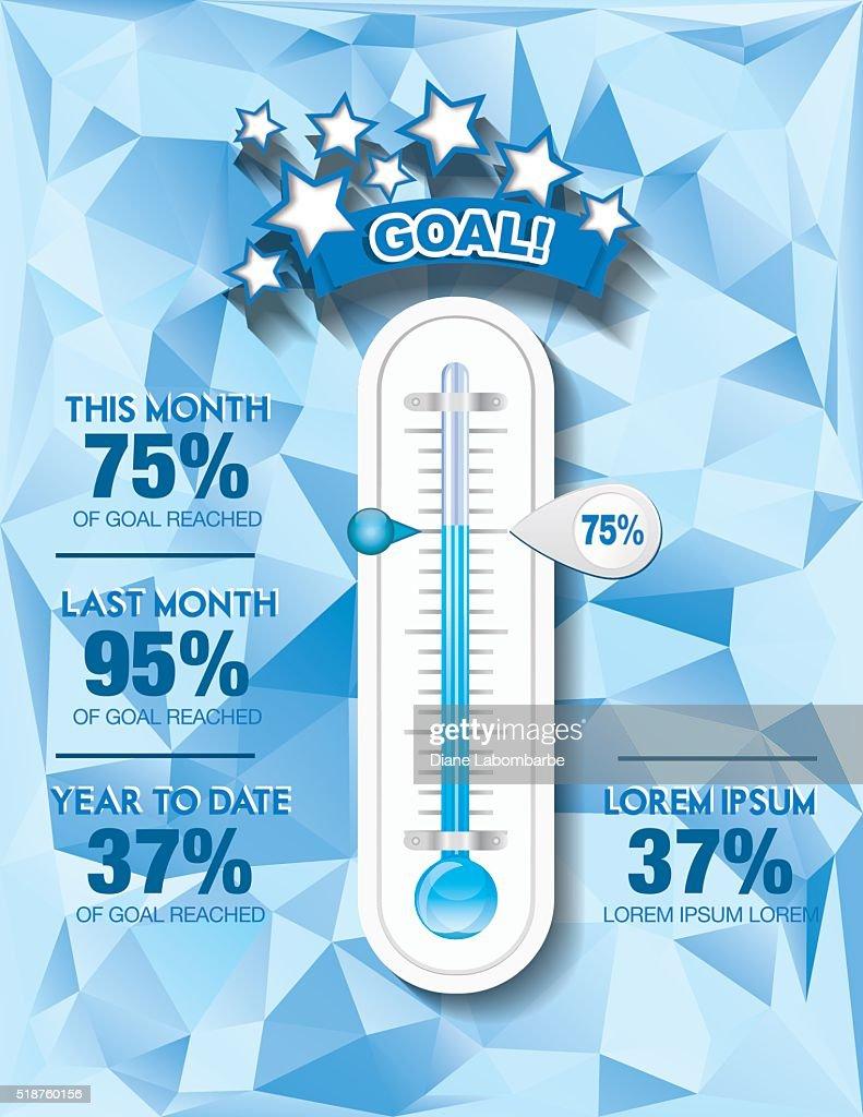 調達支援目標温度計 Templat : ストックイラストレーション