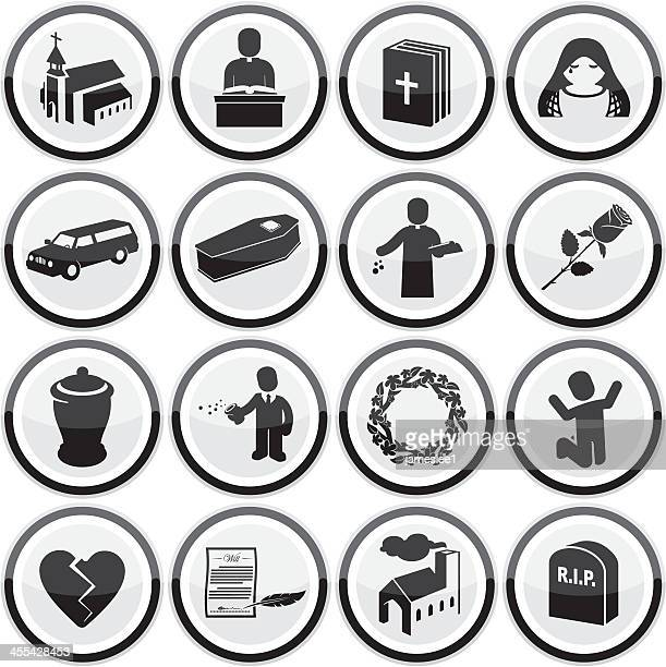 funeral icons - legal document stock illustrations, clip art, cartoons, & icons