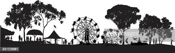 ilustrações, clipart, desenhos animados e ícones de funfair - festival tradicional