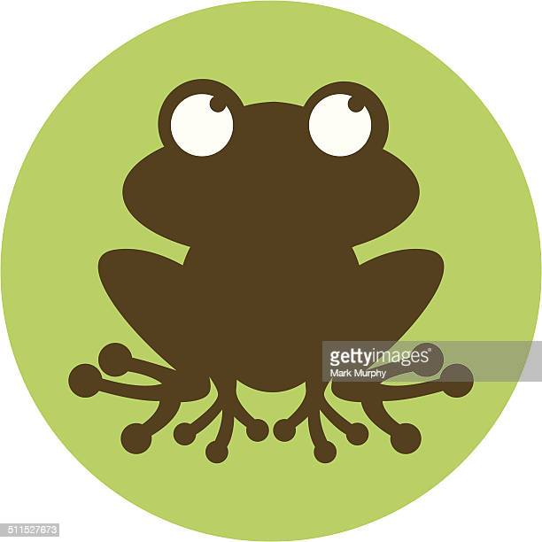 Funky Frog Silhouette