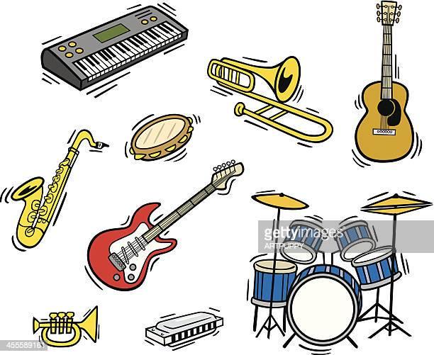 ilustrações de stock, clip art, desenhos animados e ícones de instrumentos de funk - pandeiro