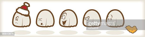 ilustraciones, imágenes clip art, dibujos animados e iconos de stock de juego de monstruos divertidos? ¡enséñalo! - pedo