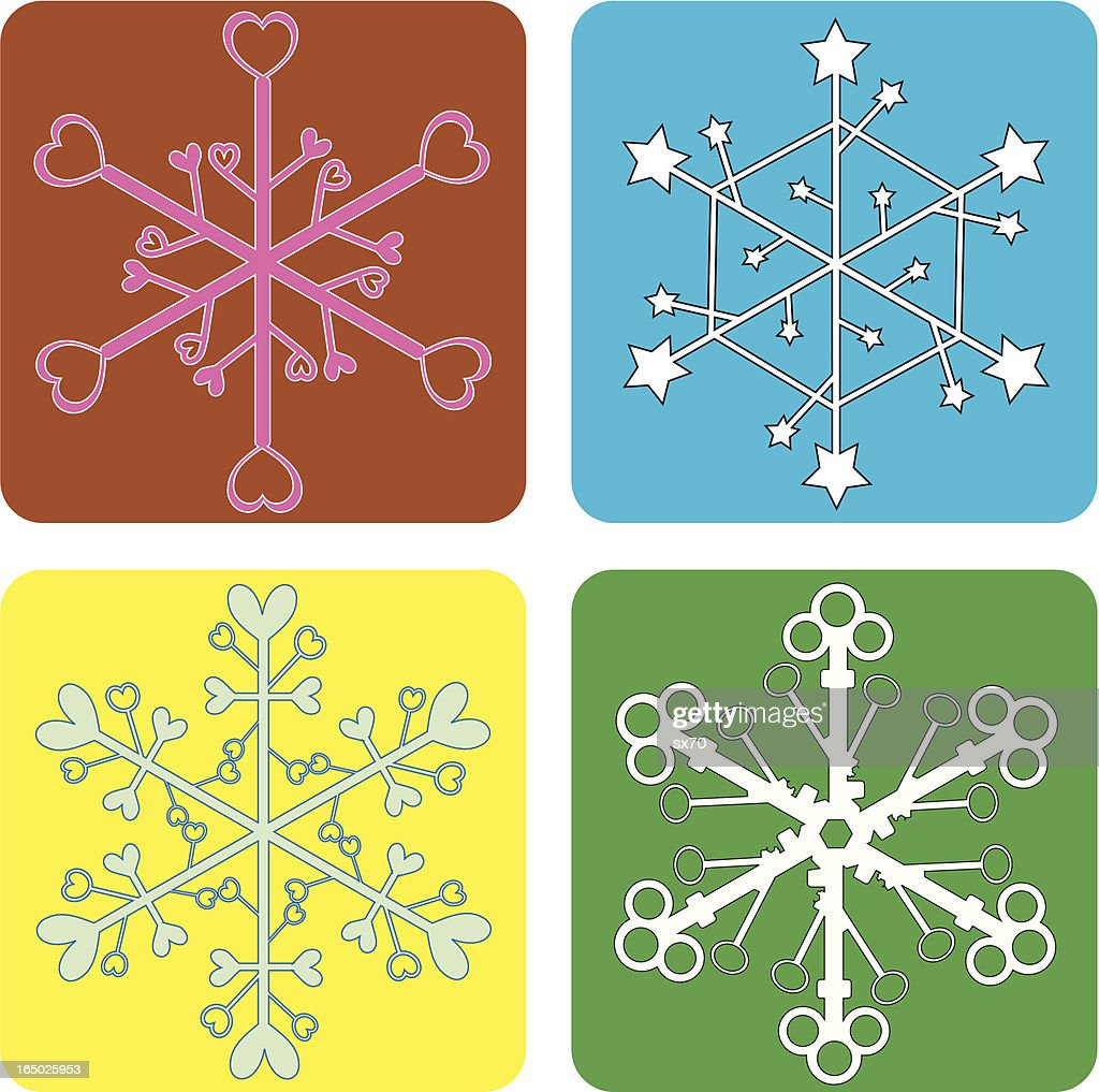 Funky Snowflakes ( Vector )