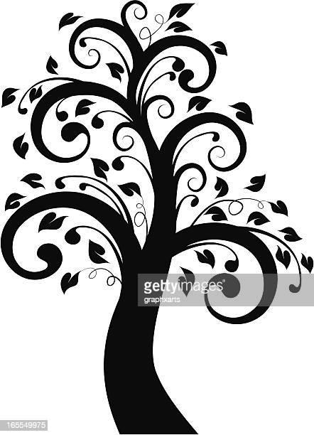 ilustraciones, imágenes clip art, dibujos animados e iconos de stock de funky árbol - funky