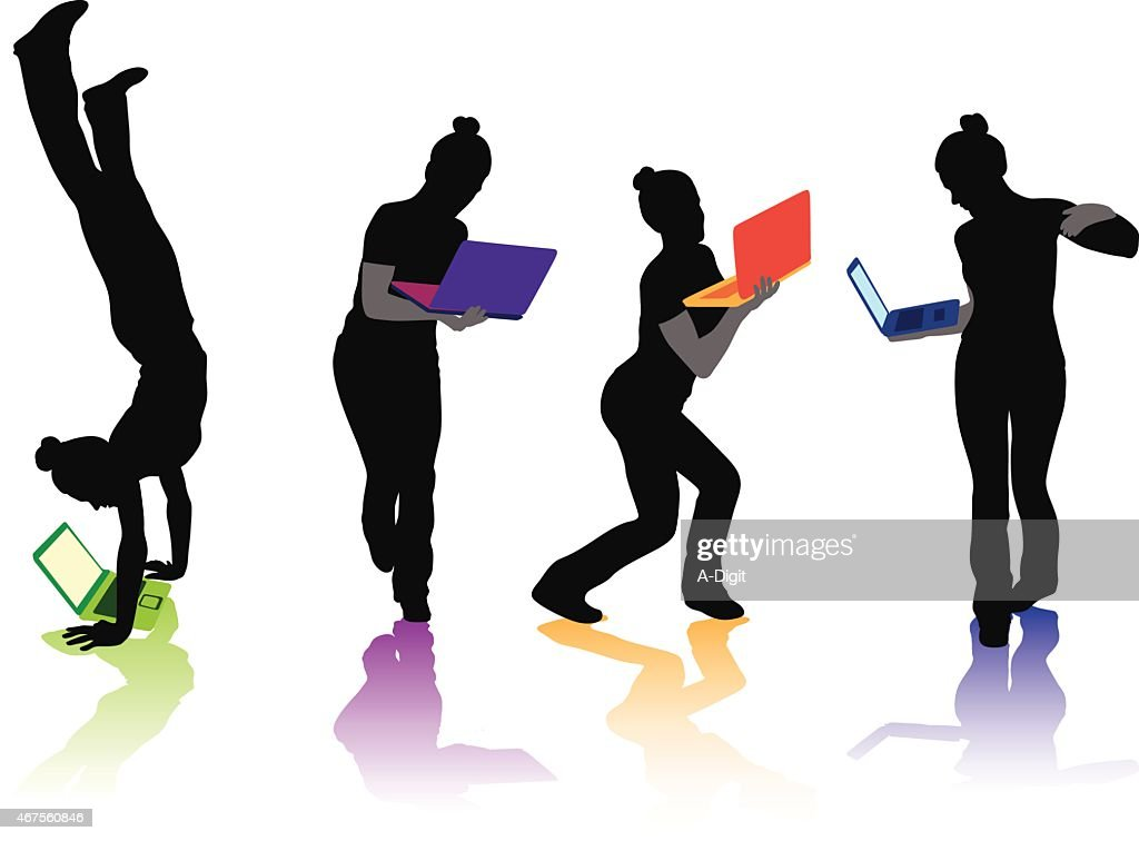 FunkyLaptop : stock illustration