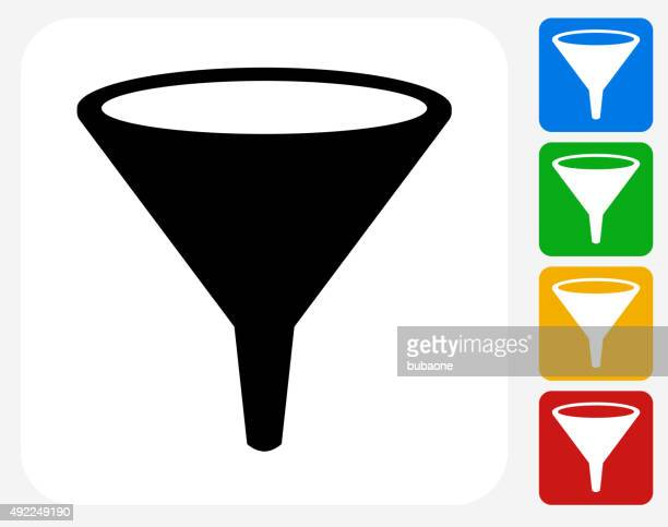 funnel icon flat graphic design - funnel stock illustrations