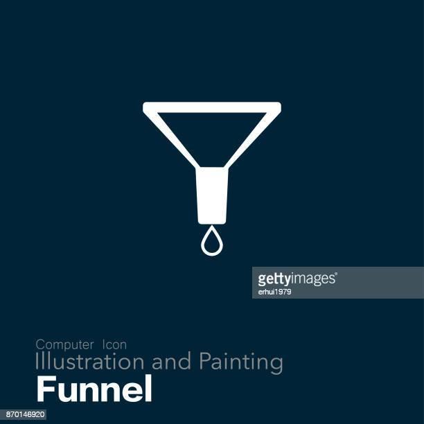 funnel - funnel stock illustrations
