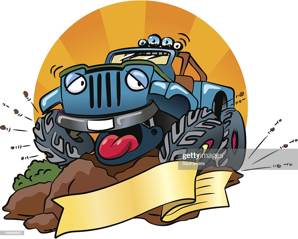 Drole En Jeep 4 X 4 Illustration Getty Images