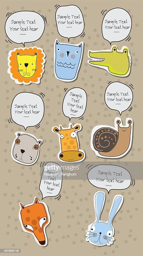 Funny Animal talk Vector