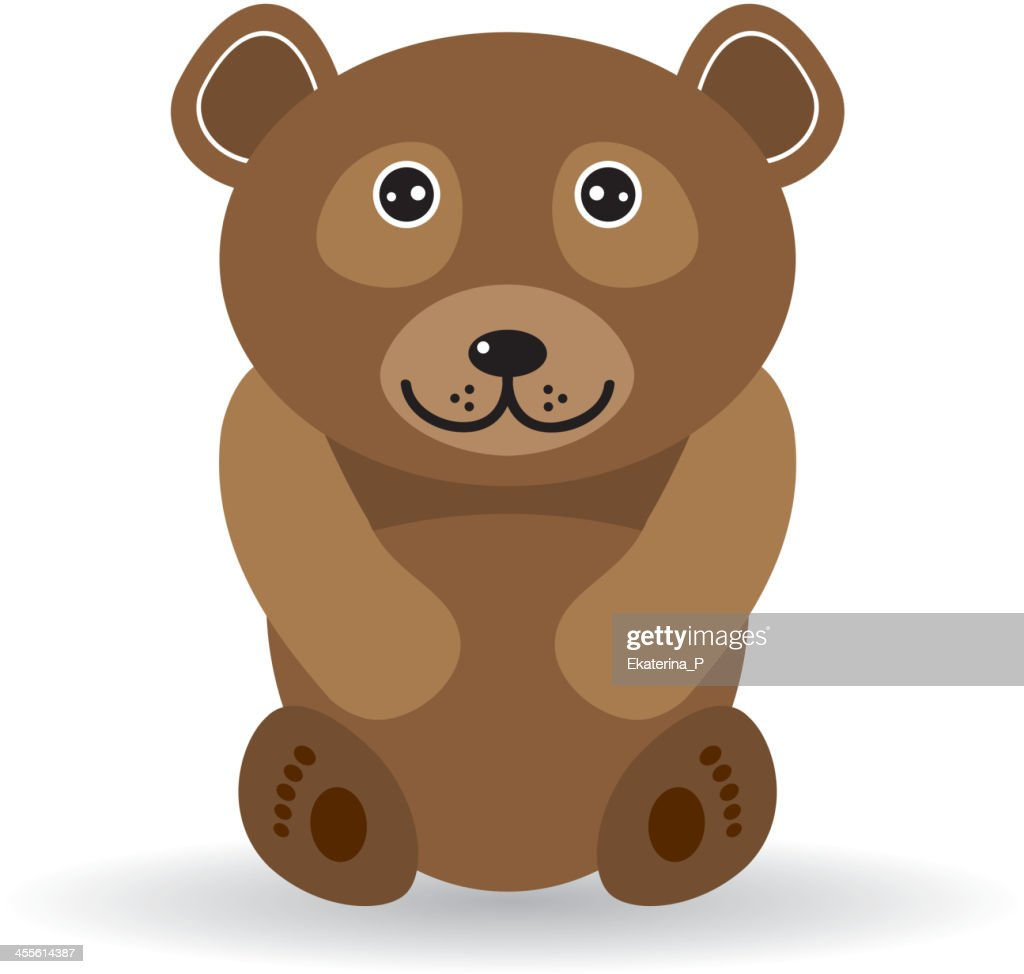 Funny bear on a white background. vector