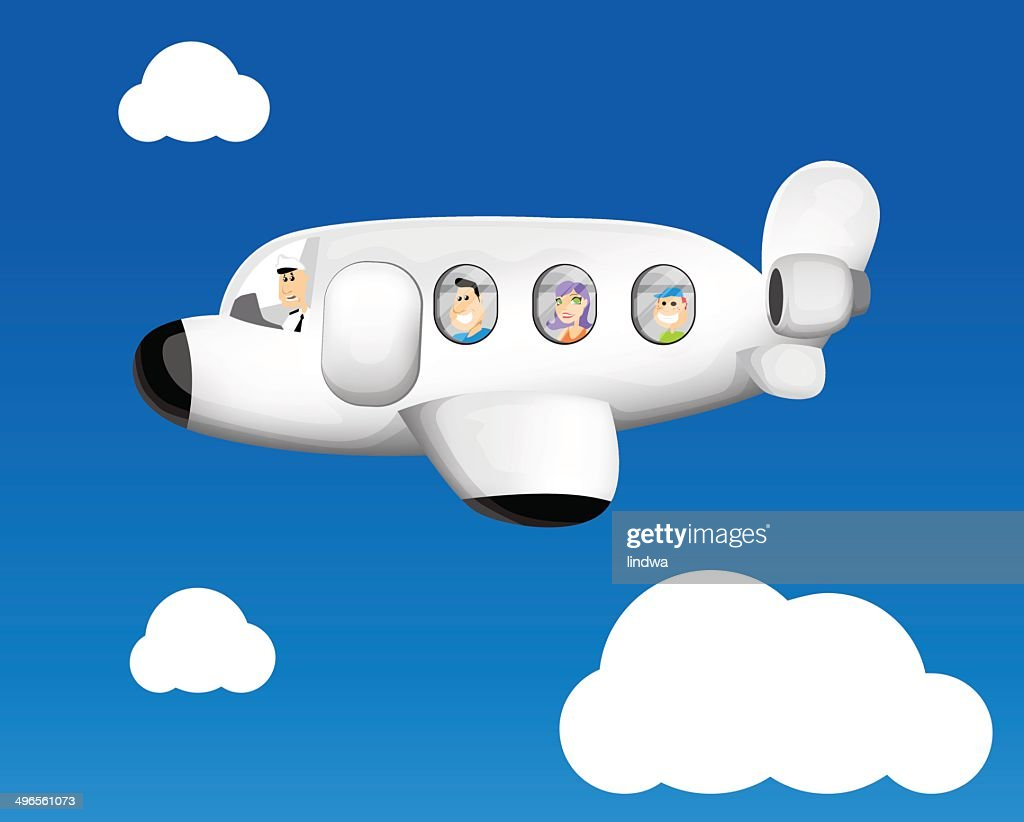 Funny cartoon airplane