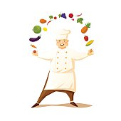 Funny cartoon chef.