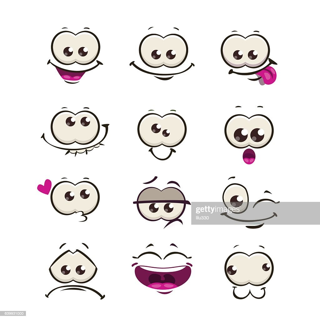 Funny cartoon comic faces