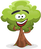 Funny Cartoon Tree Character
