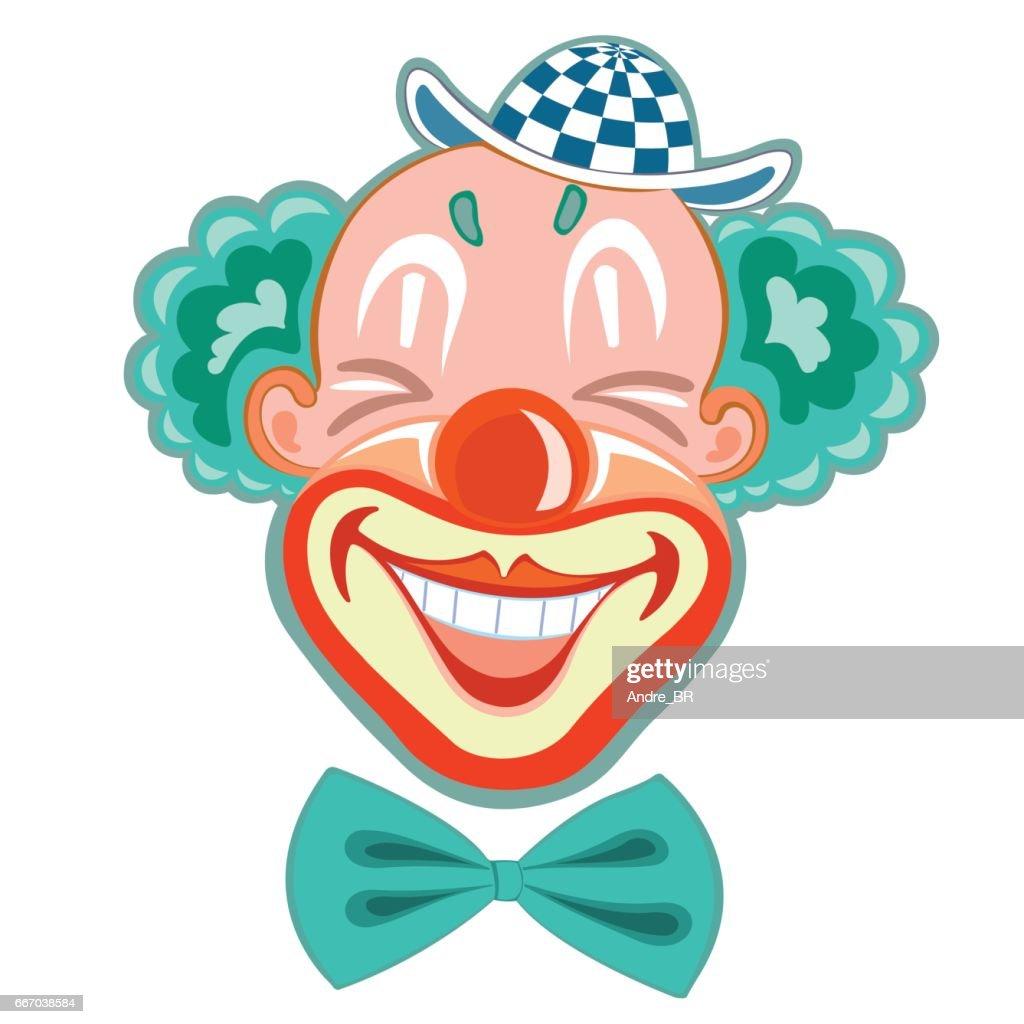 Funny circus clown.