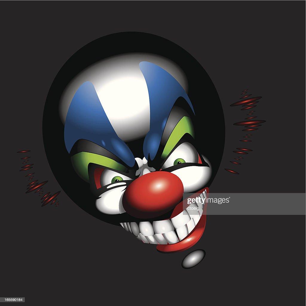 funny clown face