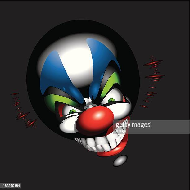 funny clown face - jester stock illustrations, clip art, cartoons, & icons