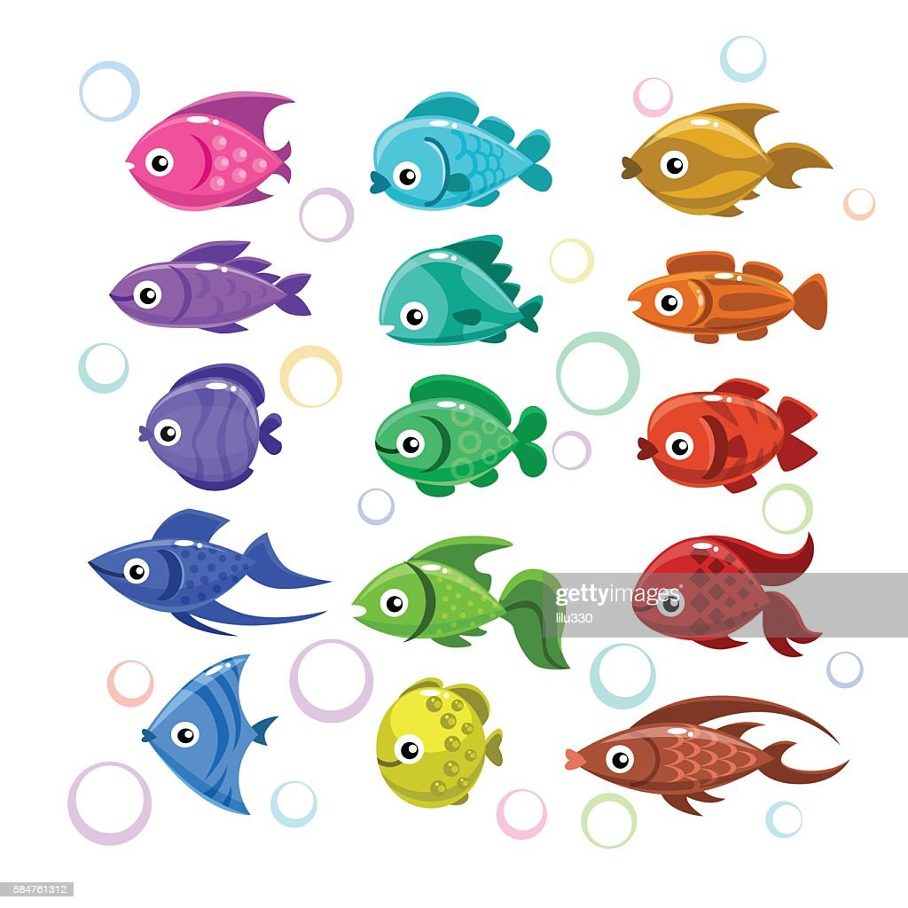 Funny colorful fishes