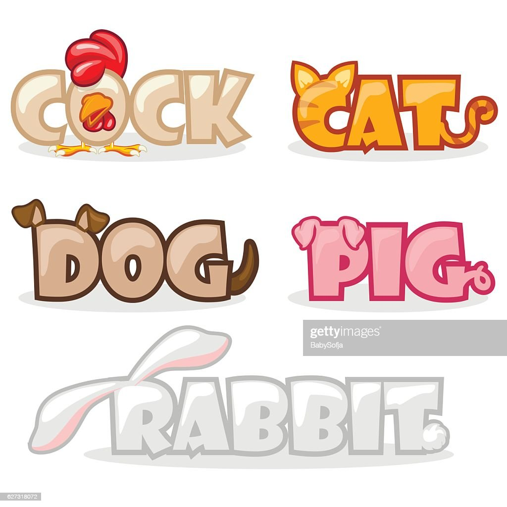 funny cute animal text name