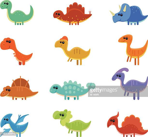 funny dinosaurs - dromaeosauridae stock illustrations