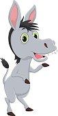 funny donkey cartoon waving hand