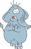 Funny elephant vector character on a white background.