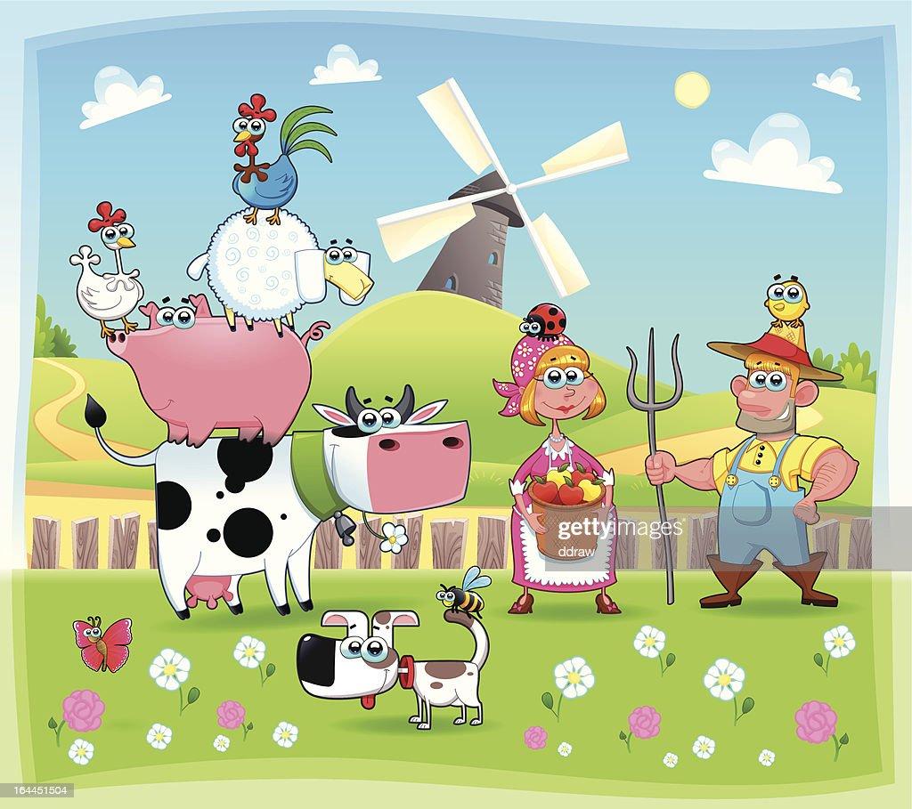Funny farm family